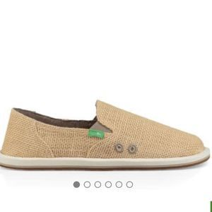 NEW Sanuk Donna Cruz Turtle Dove CREAM 5 NWT